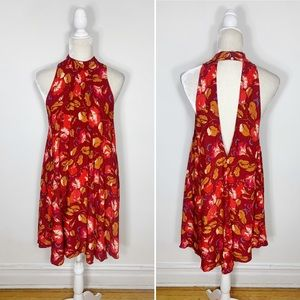 FREE PEOPLE red sleeveless open back A line dress